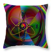 Yin Yang Directions Throw Pillow