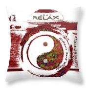 Yin Yang Photo Can Throw Pillow