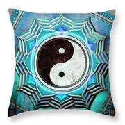 Yin Yang -  The Healing Of The Blue Chakra Throw Pillow