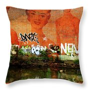 Yo Go Girl Throw Pillow