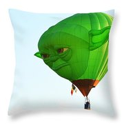 Yoda In The Sky Throw Pillow