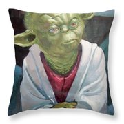 Yoda. Original Acrylic Throw Pillow