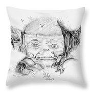 Yoda's Back Garden Throw Pillow