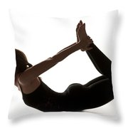 Yoga Bow Pose Throw Pillow