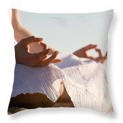 Yoga Throw Pillow by Kati Molin