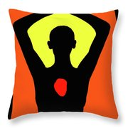 Yoga Lotus Throw Pillow