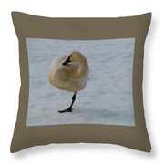 Yoga Tree Pose Throw Pillow