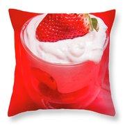 Yoghurt And Berry Dessert Throw Pillow