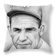 Yogi Berra Throw Pillow