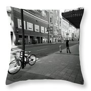 Yonge And Queen In Toronto Throw Pillow