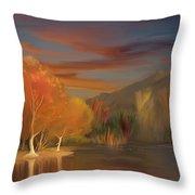 Yorba Linda Lake By Anaheim Hills Throw Pillow