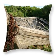 York Boat - Fort Garry Throw Pillow