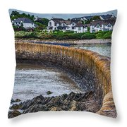 York Breakwater Barry Island Throw Pillow