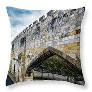 York City Roman Walls Throw Pillow
