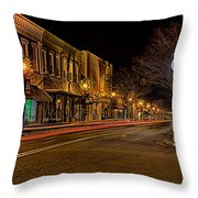 York South Carolina Downtown During Christmas Throw Pillow