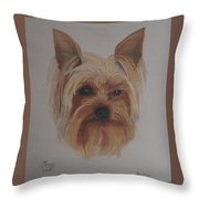Pickles The Yorkie Throw Pillow