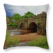 Yorkshire Bridge - P4a16015 Throw Pillow