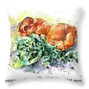 Yorkshire Puddings With Yorkshire Salad Garnish Throw Pillow