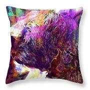 Yorkshire Puppy Domestic Animal  Throw Pillow