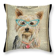 Yorkshire Terrier-jp3856 Throw Pillow