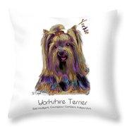 Yorkshire Terrier Pop Art Throw Pillow