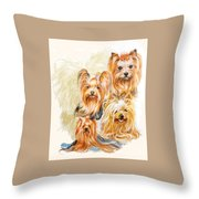Yorkshire Terrier W/ghost Throw Pillow