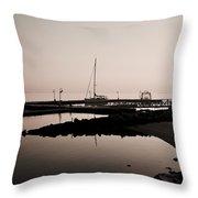 Yorktown Marina Morning Throw Pillow