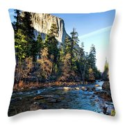 Yosemite Afternoon Throw Pillow
