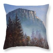 Yosemite Dawn Detail Throw Pillow