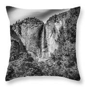 Yosemite Falls Throw Pillow by Chris Cousins
