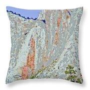 Yosemite Falls Drought Throw Pillow