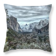 Yosemite National Park Tunnel View  Throw Pillow