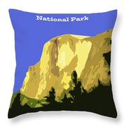 Yosemite Poster Throw Pillow