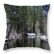 Yosemite Reflections Throw Pillow