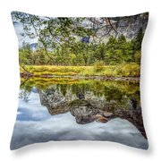 Yosemite Reflections Right Throw Pillow