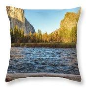 Yosemite Sunset Throw Pillow
