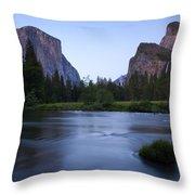 Yosemite Twilight Throw Pillow