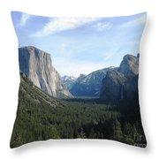 Yosemite Valley 1 Throw Pillow