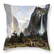 Yosemite Valley, C1860 Throw Pillow
