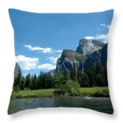 Yosemite Valley View X Throw Pillow