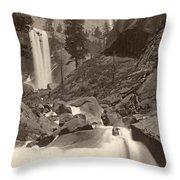 Yosemite: Vernal Fall Throw Pillow
