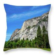 Yosemite West Valley Throw Pillow