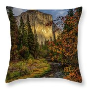 Yosemite's El Capitan In The Fall Throw Pillow