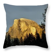 Yosemite's Half Dome At Sunset Throw Pillow