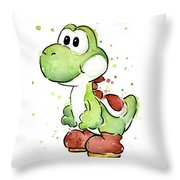 Yoshi Watercolor Throw Pillow