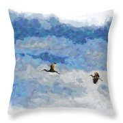 You And Me Babe Throw Pillow