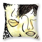 You And Me Sepia Tones Throw Pillow