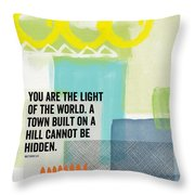 You Are The Light- Contemporary Christian Art By Linda Woods Throw Pillow