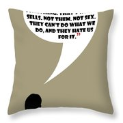 You Are The Product - Mad Men Poster Don Draper Quote Throw Pillow
