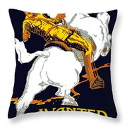You Are Wanted By Us Army Throw Pillow